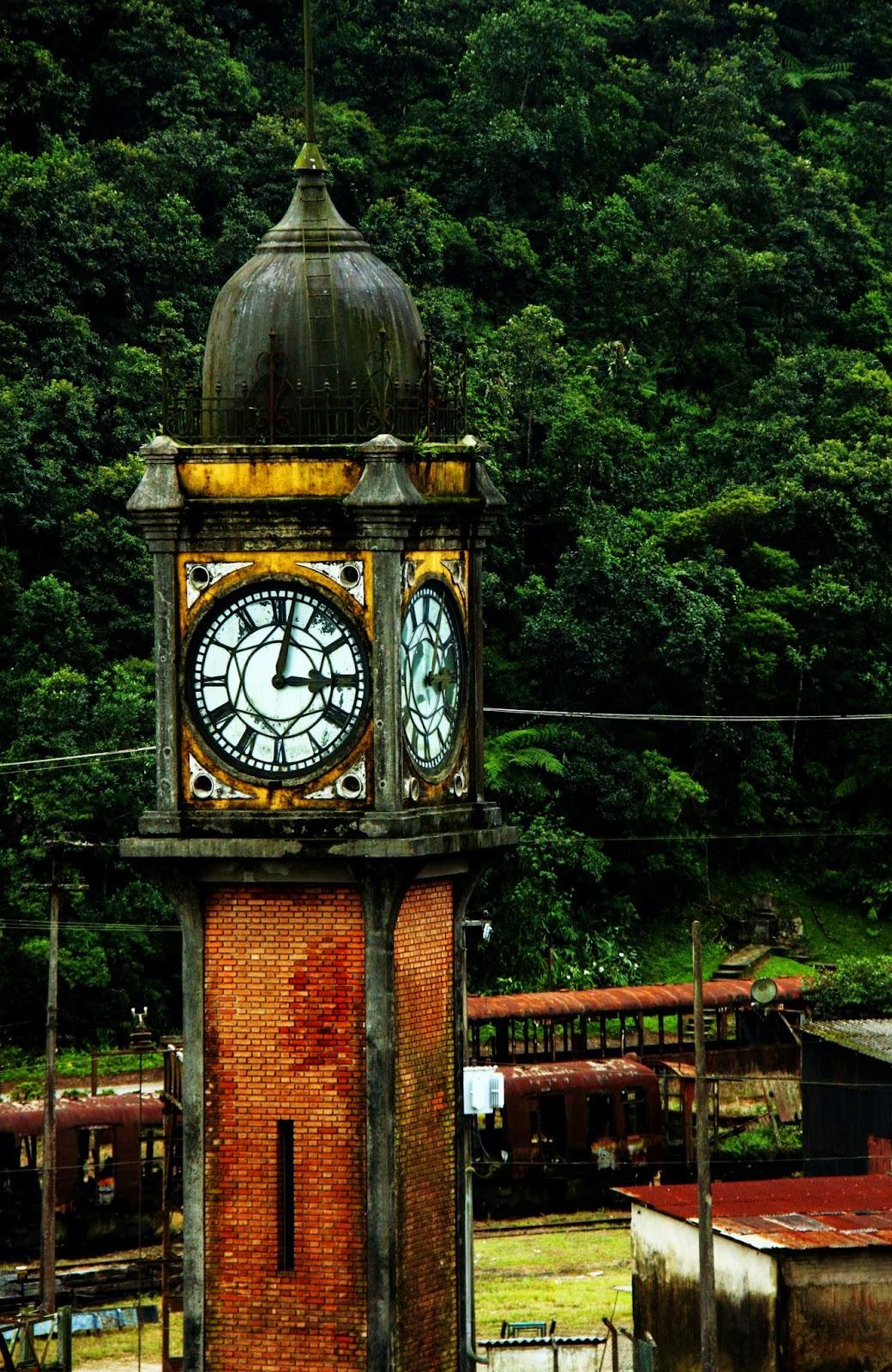 Relógio inglês em Paranapiacaba