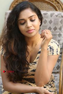 Telugu Actress Karunya Chowdary Stills in Short Dress at ATM Not Working Press Meet  0247.jpg