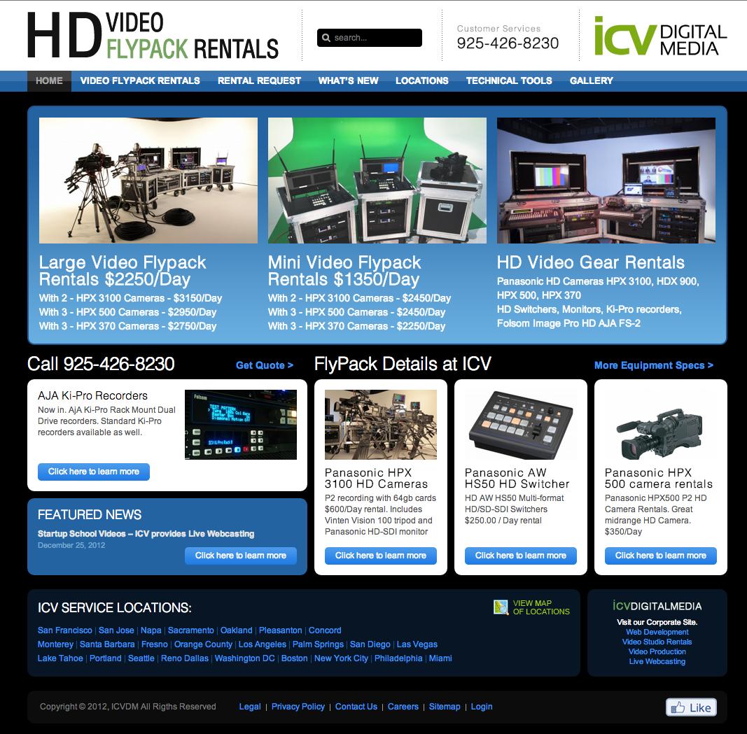 Rentals Websites: Video Flypack Rental Website