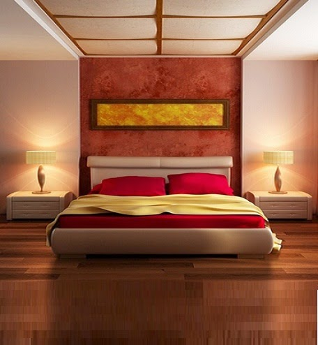 Bedroom ceiling designs in Japanese style