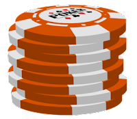 orange poker chip stack