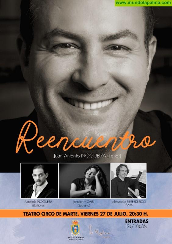 El tenor Juan Antonio Nogueira regresa al Teatro Circo de Marte para ofrecer un concierto de 'reencuentro' con su ciudad natal