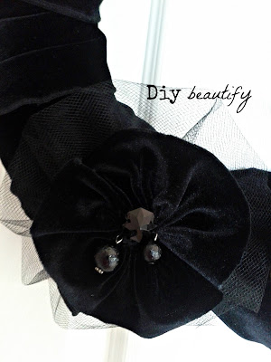 How to Make an Easy Gathered Flower www.diybeautify.com