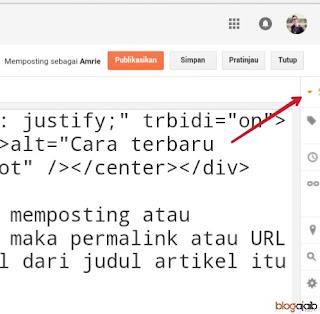 Cara mengedit alamat postingan blog
