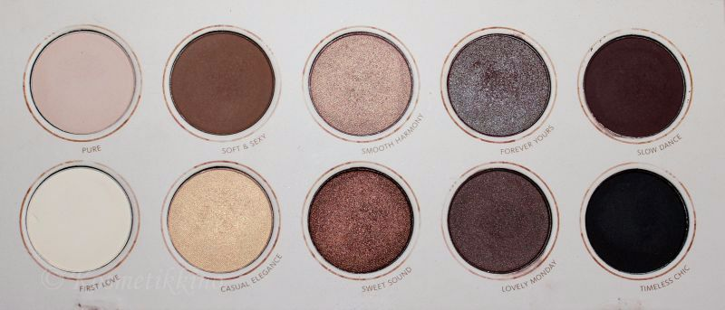 Zoeva Naturally Yours Palette Swatch