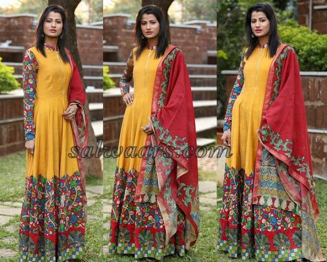Amita Behra Yellow Salwar Kameez