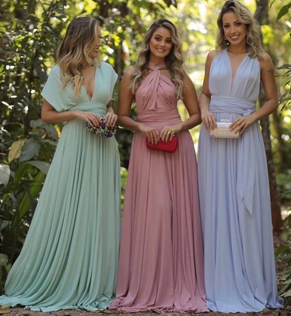 9b6f6138e Vestidos para madrinhas e convidadas de casamento durante o dia ...