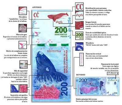 El Banco Central, con un acto en Puerto Madryn, dio curso legal a la nueva emisión del billete, que lleva la imagen de la Ballena Franca Austral. Las medidas de seguridad, en la nota.