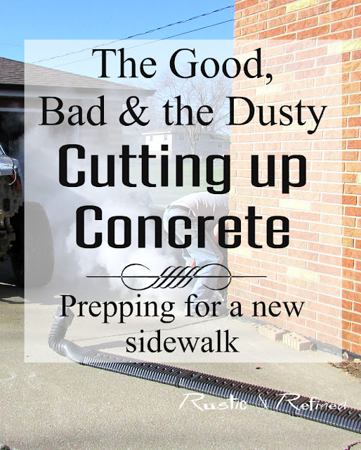 DIY cutting up old concrete