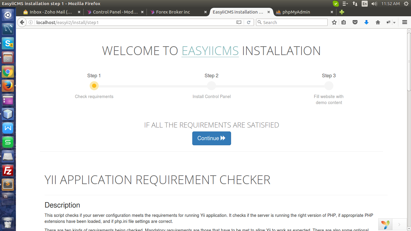 Installing easyiicms on localhost on wamp in a sub folder step 2 baditri Gallery