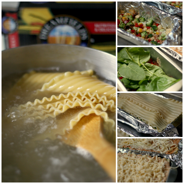 Veggie Lovers Lasagna - assembly