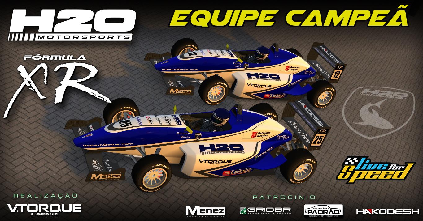 H2O MotorSports campeã do Fórmula XR 2016 Banner_equipe