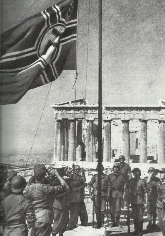 27 April 1941 worldwartwo.filminspector.com German Acropolis flag-raising