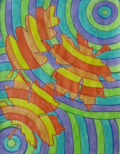 Runde' Room Falling Leaves In Art Class