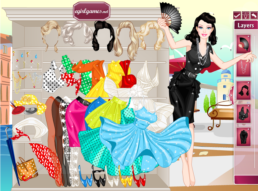 60d5d37752915 لعبة تلبيس ستايل باربي ومارلين Barbie Marilyn Style Dress Up