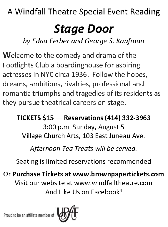 WINDFALL THEATRE SEASON 26 - Windfall Theatre