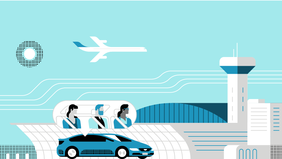 Get 2 free ride from the airport, up to $130, with American Express