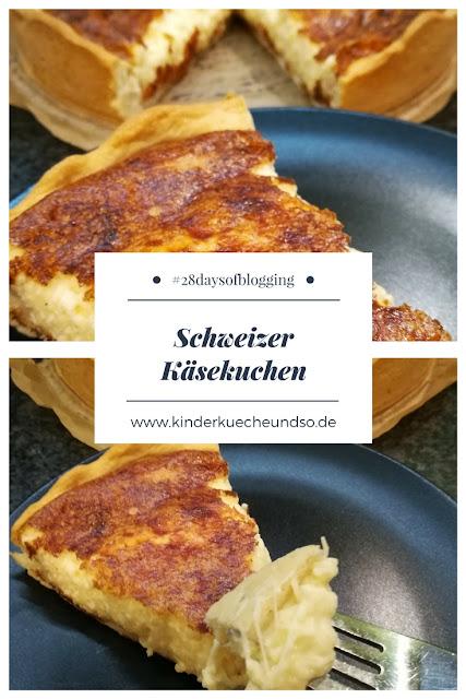 herzhafter schweizer Käsekuchen