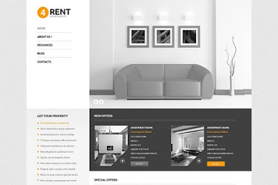 Grey Real Estate Responsive WordPress Theme