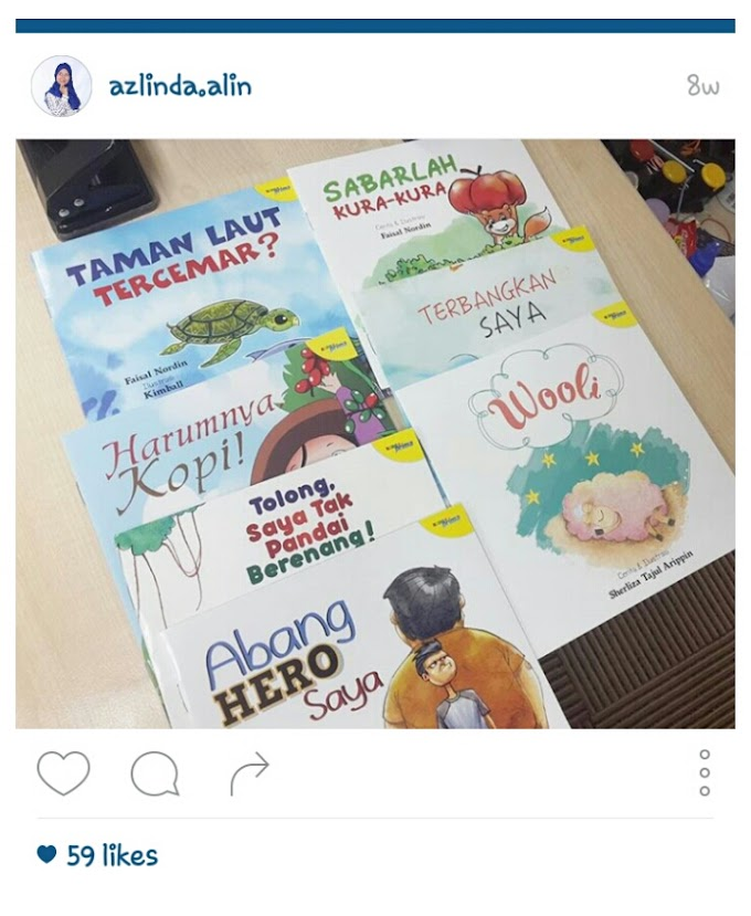 Buku Cerita #Projek100buku Menarik Untuk Kanak-kanak dan Membantu Ibubapa Mendidik Anak-anak.
