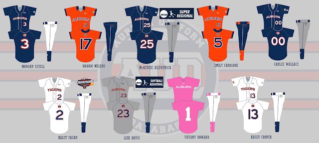auburn softball uniform 2015