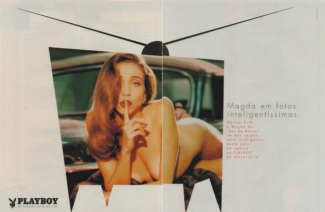 Propaganda da Revista Playboy com ensaio da Marisa Orth, em 1997.