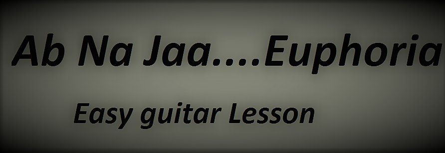 Ab Na Jaa Euphoria Easy Guitar Lesson Chords Play With Guitar