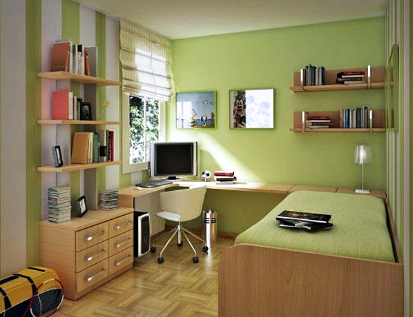 Inspirasi dan desain kamar tidur anak laki-laki di lantai 2 (loteng)