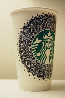 Downtown Doodler's Doodles: Starbucks Cup Doodle 7