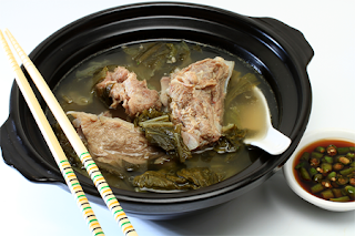Bakut Kuah Sayur Asin, Pork Ribs Sour Soup, Soup Bakut Sayur Asin, Ribs and Pickled Bok Choy Soup, Pork Ribs Soup, Pork Ribs with Pickeld Mustard Green Soup