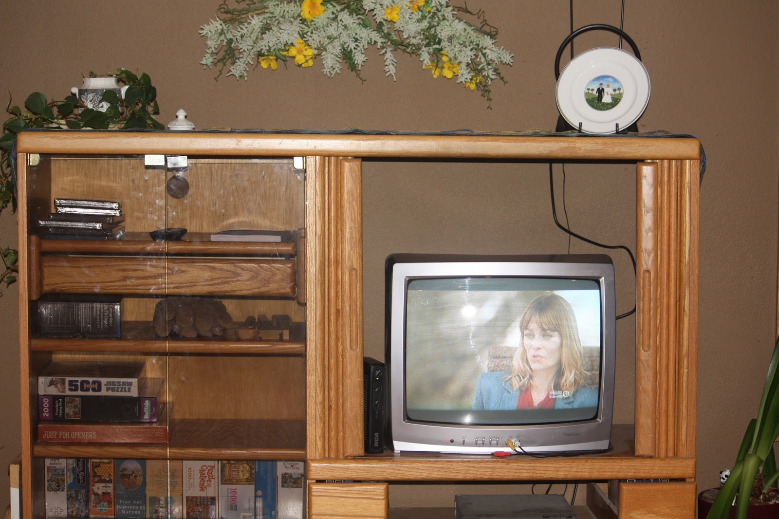 I Bought This Entertainment Center From Bucku0027s Unpainted Furniture When I  Moved To The Big City Back In The 80u0027s. Itu0027s Moved Along W/ Me From Place  To Place ...