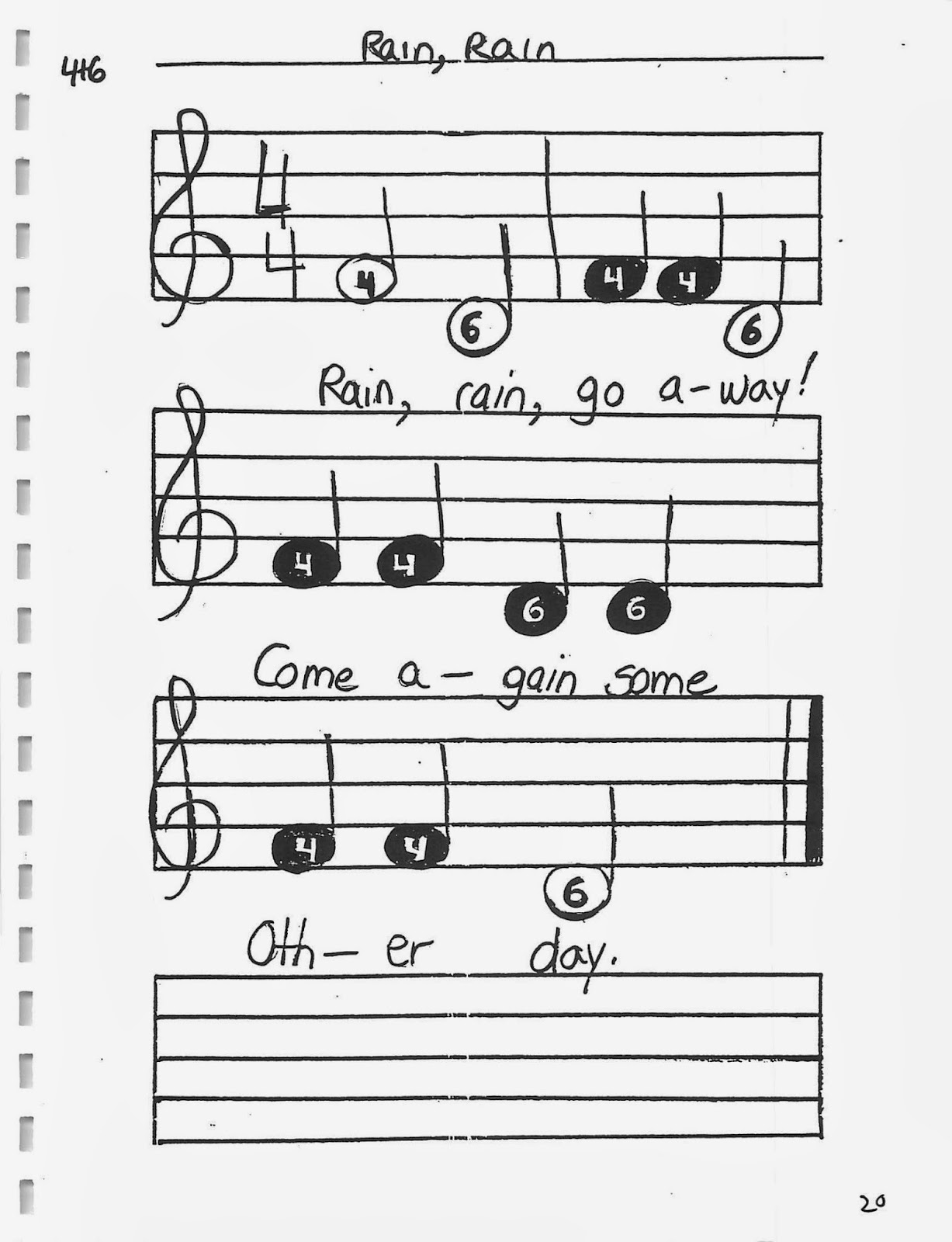Miss Jacobson's Music: TONETTE SONG BOOK: PAGES 11-20