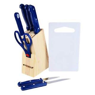 Vicenza pisau dapur set 10 buah biru