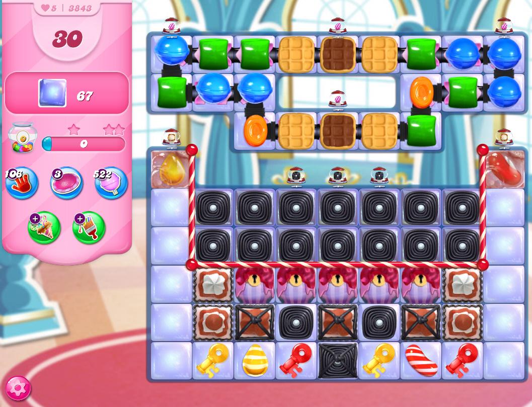 Candy Crush Saga level 3843