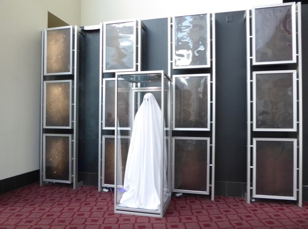 Ghost Story costume display ArcLight Hollywood
