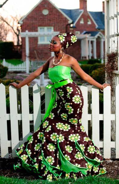 bow afrika fashion Cocktail Dress