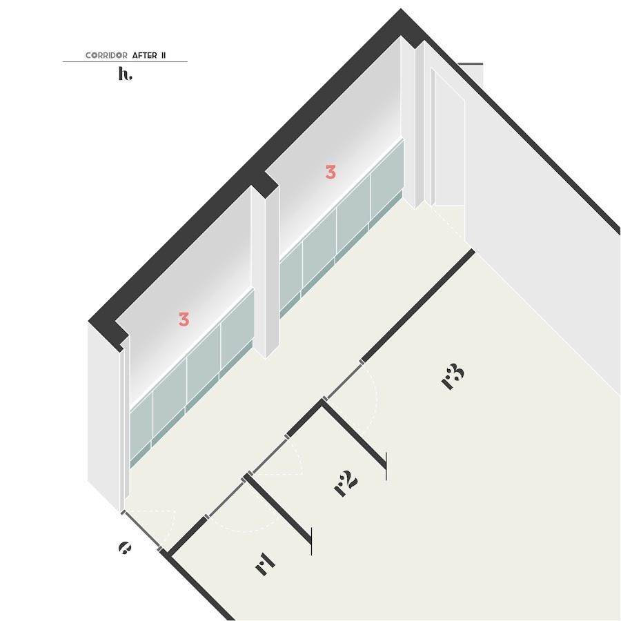 Los panelados en paredes consiguen cambiar la escala aparentes de los espacios alagados y estrechos
