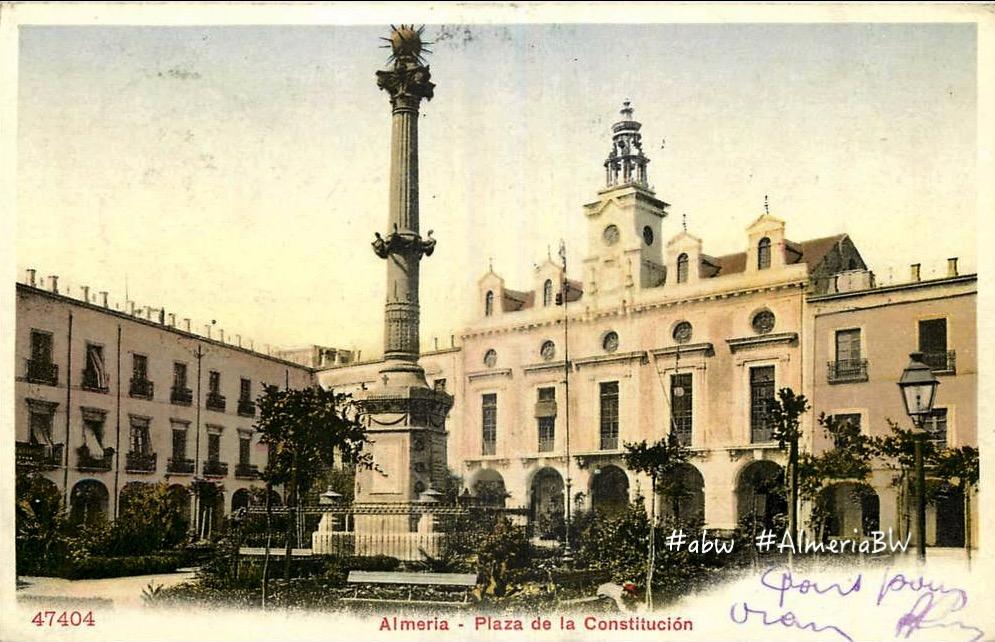 Fotos Antiguas De Almería 1909 El Monumento A Los Coloraos En La Plaza Vieja
