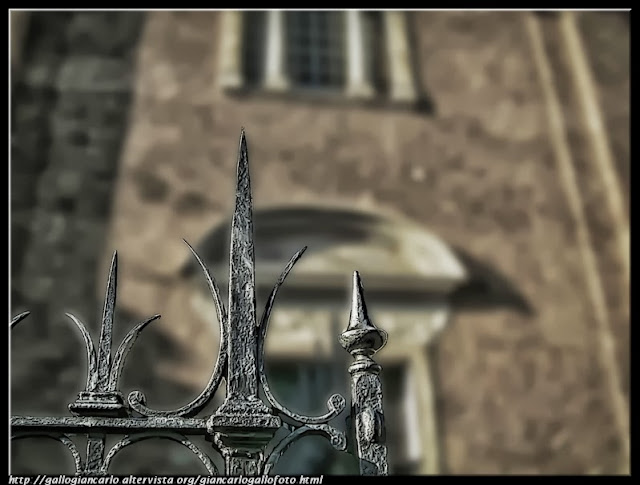 railing of a church - hdr