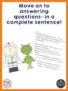 use a picture to practice answering questions in a complete sentence