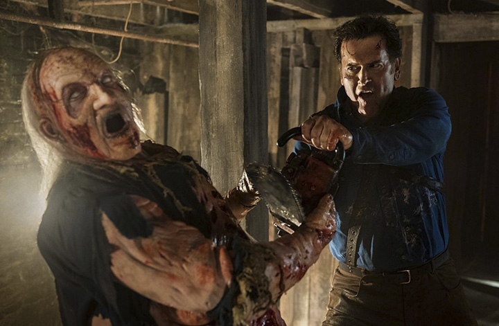Bruce Campbell em Ash Vs Evil Dead