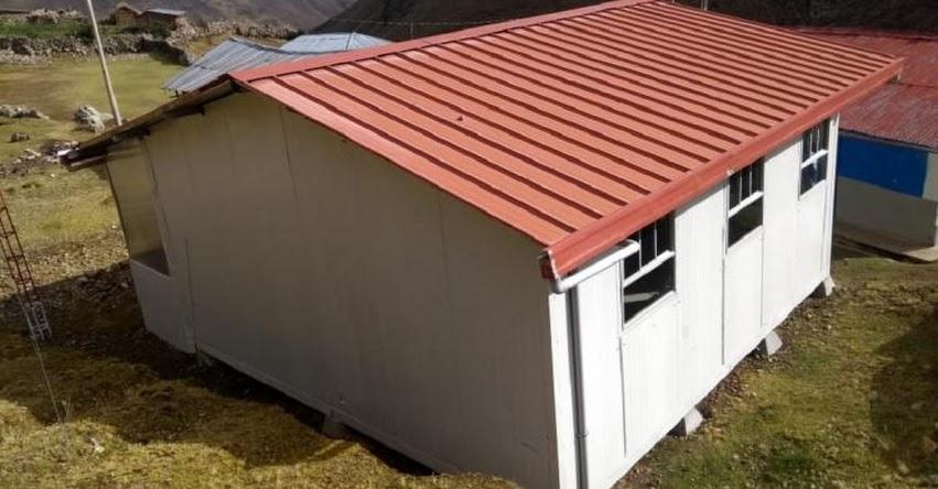 PRONIED: Culminan instalación de dos módulos educativos en colegio de Ambo en Huánuco - www.pronied.gob.pe
