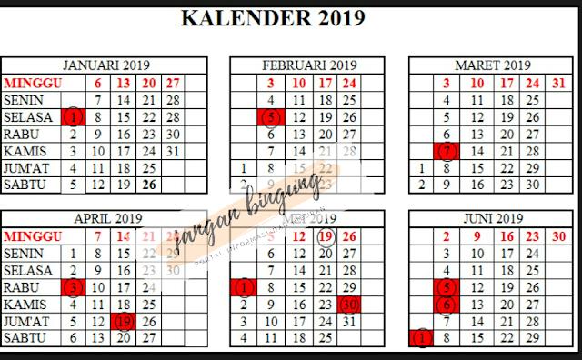 Daftar Hari Libur Nasional Dan Cuti Bersama Sepanjang 2019