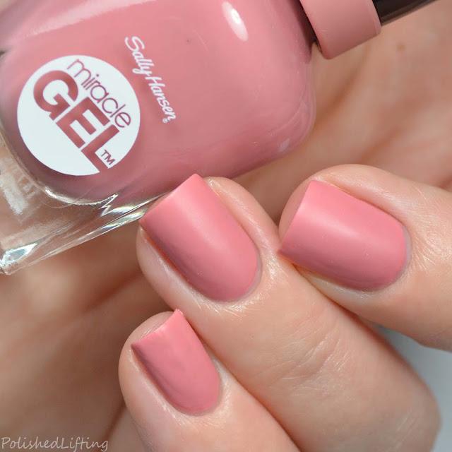 mauve matte nail polish
