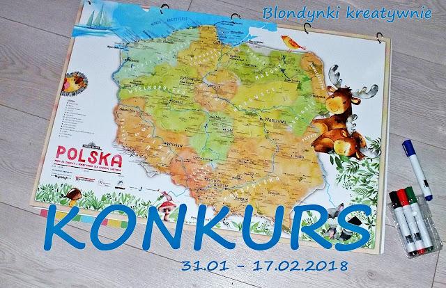 Mapa Polski dla dzieci - Twoje Mapy + Konkurs