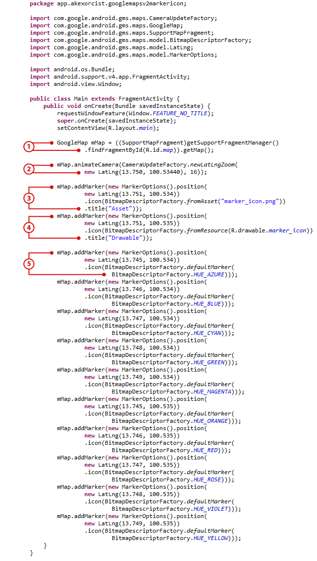Android Code] เปลี่ยนภาพ Marker ใน Google Maps Android API v2