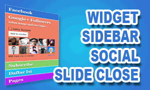 Widget Sidebar Social Slide Colorful