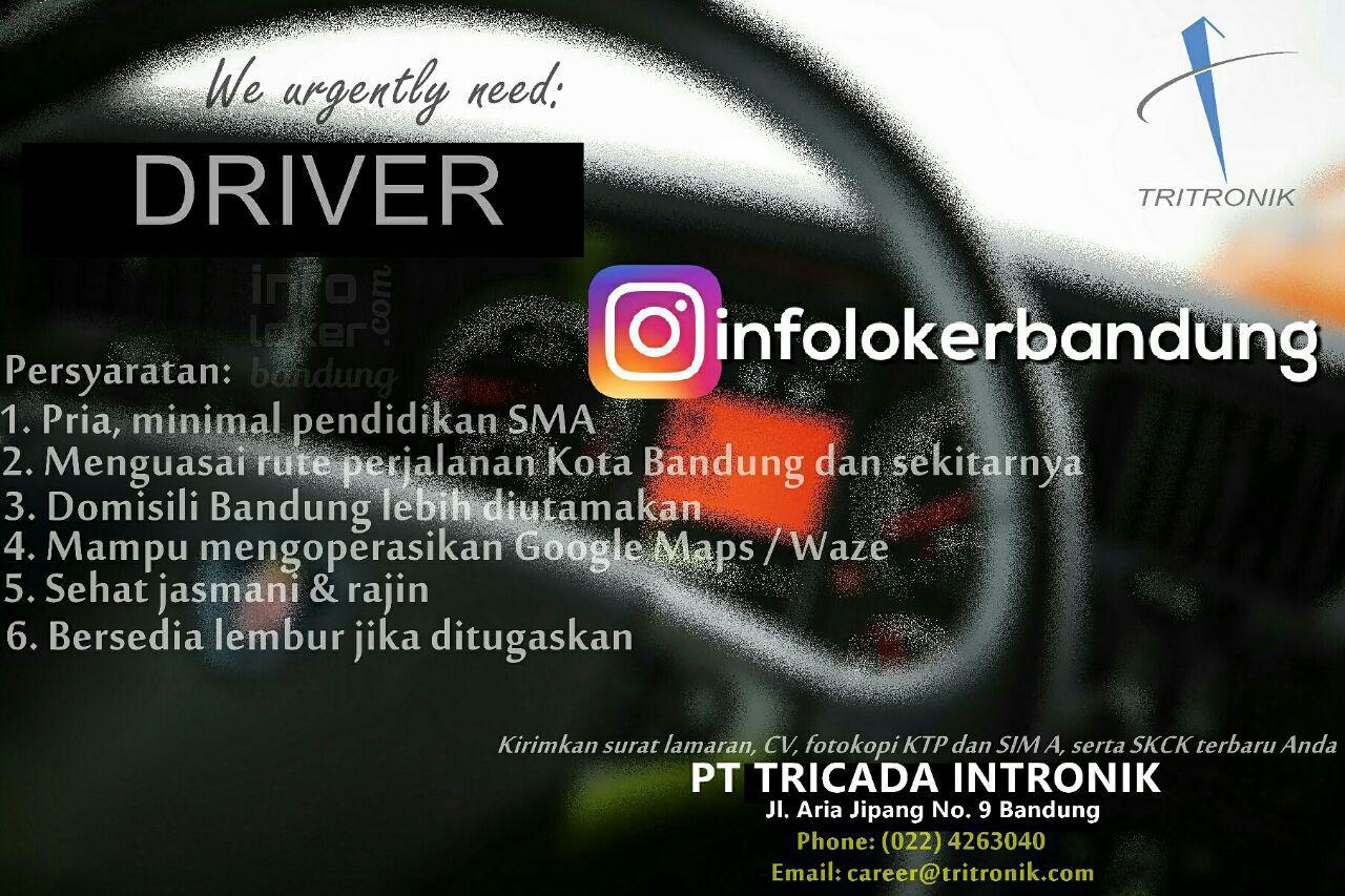 Lowongan Kerja Driver PT. Tricada Intronik ( PT. Tritronik ) April 2017
