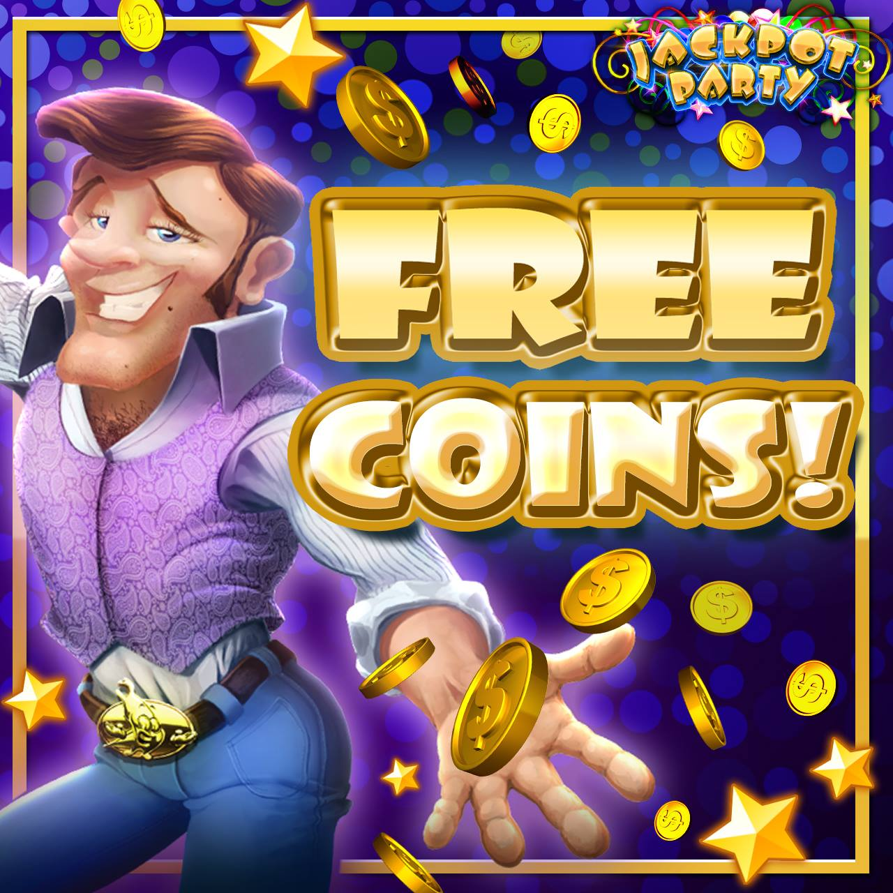 Get Free Coins for Jackpot Party Casino App (iPhone & Android)