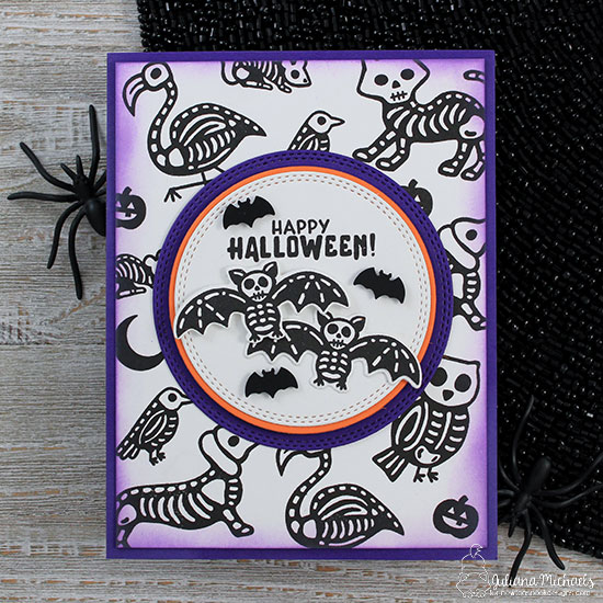Halloween Skeletons Card by Juliana Michaels | Spooky Skeletons Stamp set by Newton's Nook Designs #newtonsnook #handmade #halloween